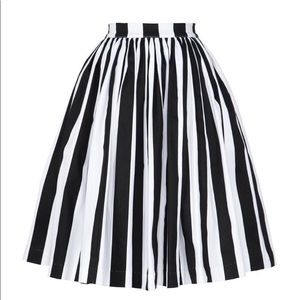 Pinup Girl Couture Jenny Striped Skirt Small NEW